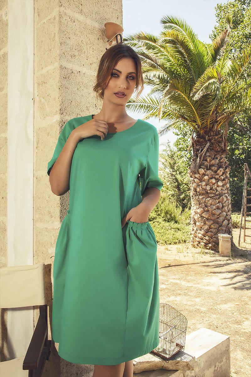Primavera Estate 2017 2018 Aldo Colombo vestito verde