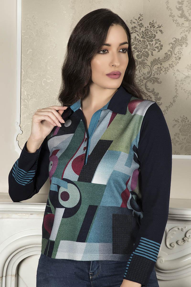 Aldo Colombo Collezione 2019 2020 maglia geometrica lana